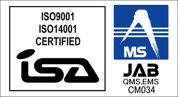 ISA・JABマーク ISO9001・ISO14001